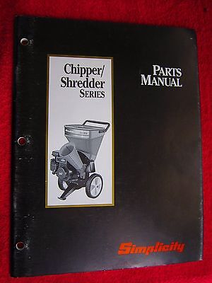 1993 Simplicity Wood Chippershredder Series Parts Manual