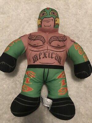 "WWE Mattel Rey Mysterio Brawlin Buddies 2011 Plush Stuffed Wrestler 16"""