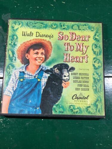 DISNEY So Dear to My Heart 45RPM record set Capital Records CDF 3000
