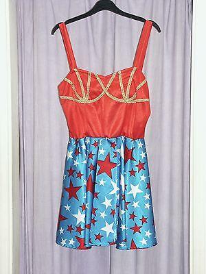 Women's 80's  Wonder Woman Fancy Dress Costume  UK 14 (b) (80s Fancy Dress Kostüme Uk)