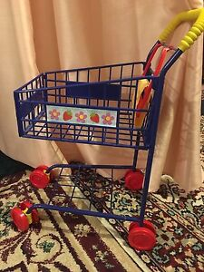 Children's toy grocery cart