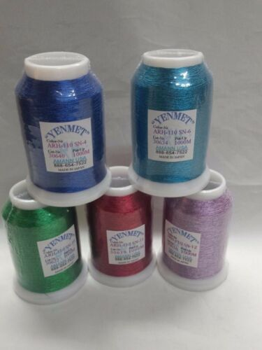 Yenmet Metallic Embroidery Thread 1000 meters