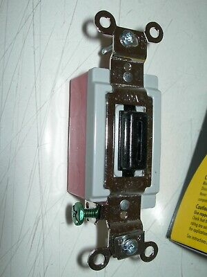 New Hubbell Industrial Locking Toggle Switch Single Pole 1221lz 15-20a Black