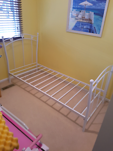 White single bed frame Rowville Knox Area Preview