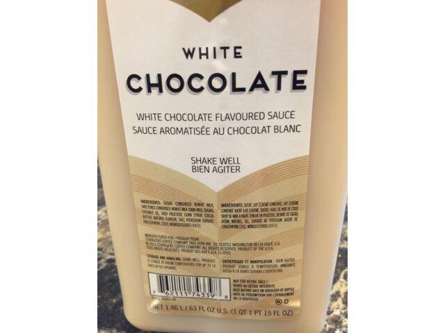 Fontana by Starbucks White Chocolate Mocha Sauce W/ PUMP - BEST BY SEPT 21, 2021