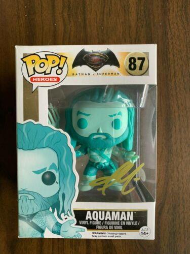 Jason Momoa Aquaman Batman Superman Funko Autographed Signed Figure JSA COA
