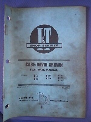 Casedavid Brown - It Shop Service Flat Rate Manual - Models 770 To 1412 C-30