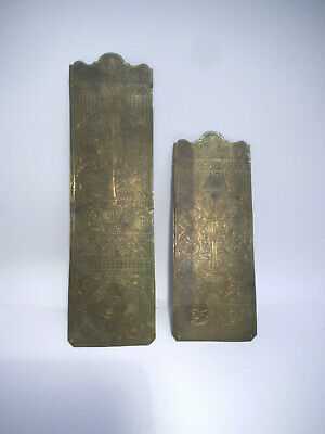 """Vintage old Antique brass  Door Finger Push Plates Retro12/"""" inches tall 10 avail"""
