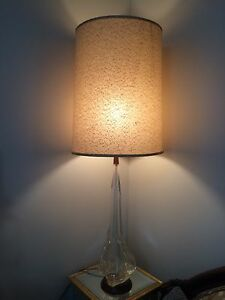Chalet Glass Lamp total height 43.5""
