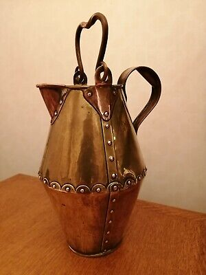 Christopher Dresser attributed Benham Froud copper brass jug c1880 arts crafts