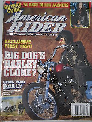 American Rider Magazine April 1996 15 Best Biker Jackets Civil War