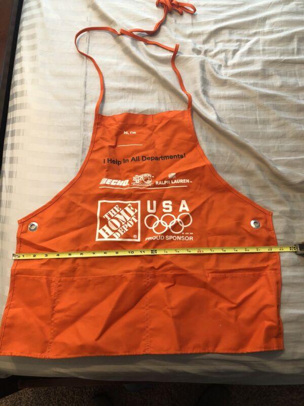 Home Depot Orange Medium Adult Employee Apron with Pockets olympics