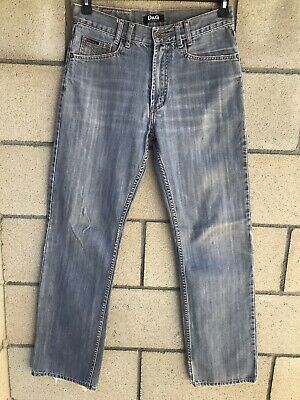 D&G DOLCE & GABBANA Mens Jeans Straight Leg Zipper Fly Medium Wash Size (D&g Men Jeans)