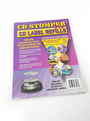 New Cd Stomper Pro Cd Label Refills 50 Die Cut Adhesive Labels
