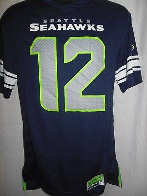 Seattle Seahawks Mens Majestic  12 Fan Jersey
