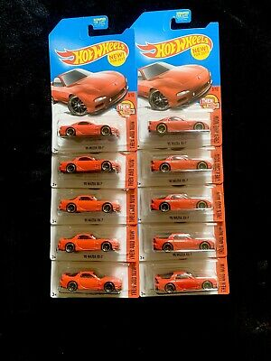 Hot Wheels - Red '95 Mazda RX7 - Lot x10