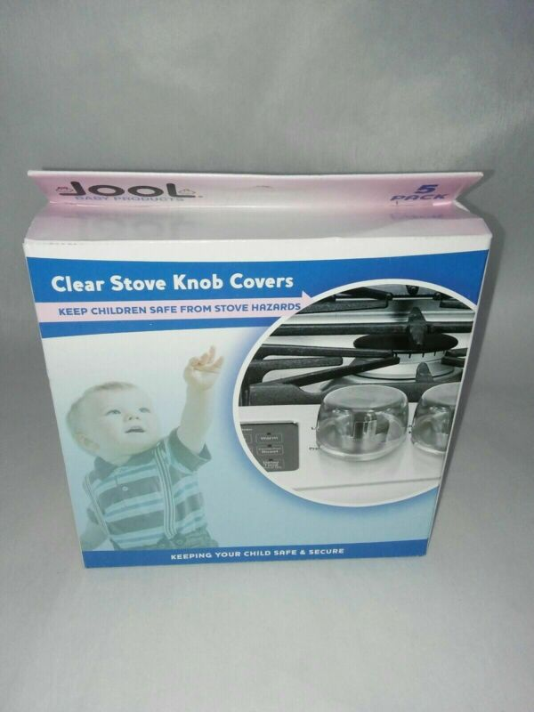 Clear Stove Knob Covers (5 Pack) Child Safety Guards, Large Universal Design