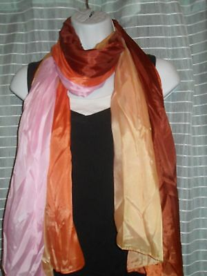 - Lightweight Chiffon Fading Colors Ombre Scarf multi color Lock and Key charms