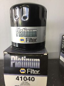 Oil filter NAPA PLATINUM 41040 GM & CHEVROLET VEHICLES $3 each.