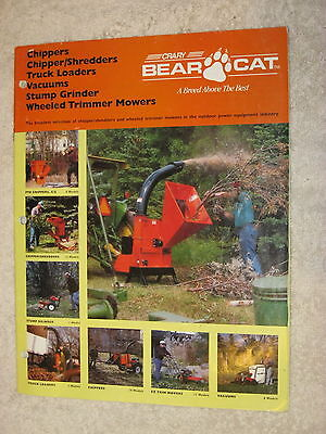 Bear Cat Chippers Shredders Vacuums Mowers Stump Grinders 20 Page Brochure