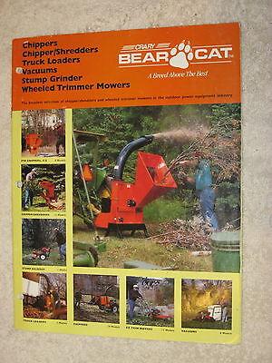 Bear Cat Chippers Shredders Vacuums Mowers Stump Grinders 20 Page Brochure