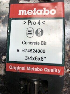 New Metabo 674524000 Concrete Drill Bit 34x6x8