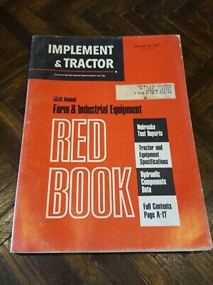 Old Vintage 1971 Red Book Implement Tractor Jan. 31 Farm Industrial Equipment