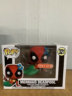 MERMAID DEADPOOL Funko Pop! #322 Marvel Target Exclusive Bobble Head NIB!