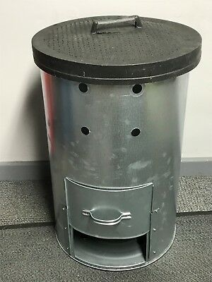 PARASENE GALVANISED GARDEN COMPOSTER, COMPOST COMES WITH HEAVY DUTY RUBBER LID