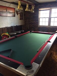 Pool table, coin operated