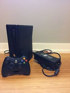 Xbox 360 with a controller