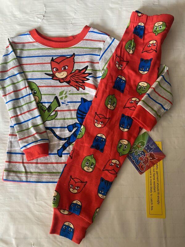PJ Masks Pajamas Owlette Gekko and Catboy Long Sleeve PJ Set 3T New