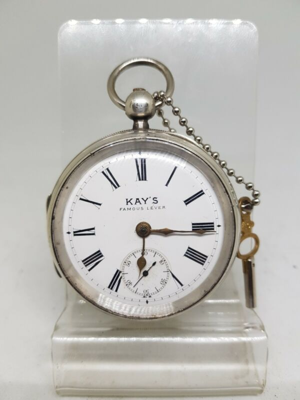 Antique solid silver gents Kay