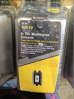 Lot Of 3 Westgate Iuc-1v Weatherproof Cover - Outdoor Electrical Box Top Hinged