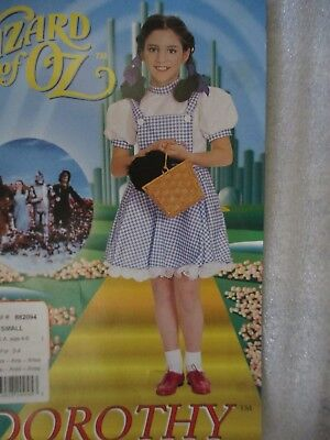Girls Halloween Costume Wizard Of Oz Dorothy Dress + Ruby Shoes Child Size 4 6 (Dorothy Costume Shoes)