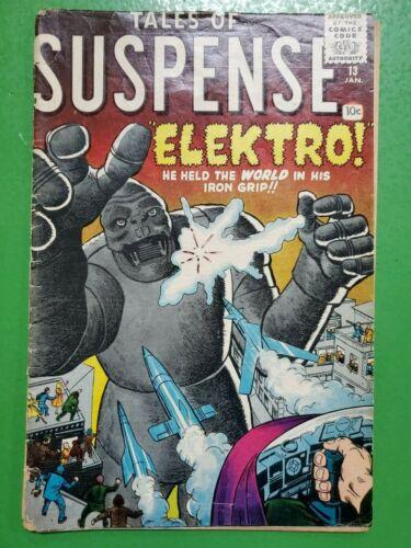 TALES OF SUSPENSE #13 Elektro Jack Kirby Steve Ditko 1961 ATLAS/MARVEL FR