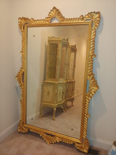 Large Hand gold-leafed Wall Mirror - Pick up only!