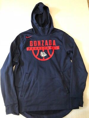 Mens Nike Therma Fit Gonzaga Bulldogs Basketball Elite Pullover Hoodie M No Tag