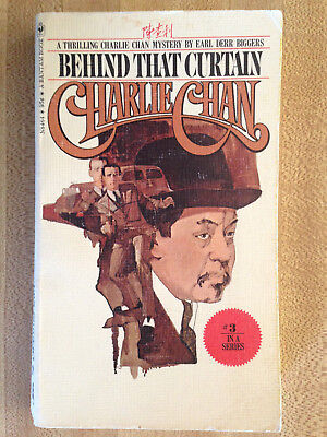 Earl Derr Biggers CHARLIE CHAN #3 Behind That Curtain 1974 Great Cover Art L@@K!