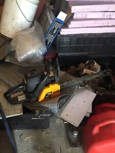 """Poulan Pro 50cc 20"""" Chainsaw for parts or repair"""