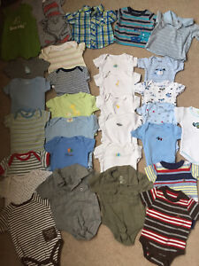 Large lot of baby boy clothes 0-3 months