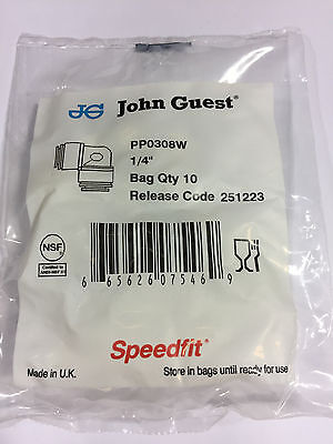 John Guest Pp 0308w Equal Elbow 14 Tube Od Bags Of 10