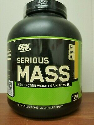 Optimum Nutrition Serious Mass 6Lb Weight Gain Powder ON Protein (Choose Flavor)
