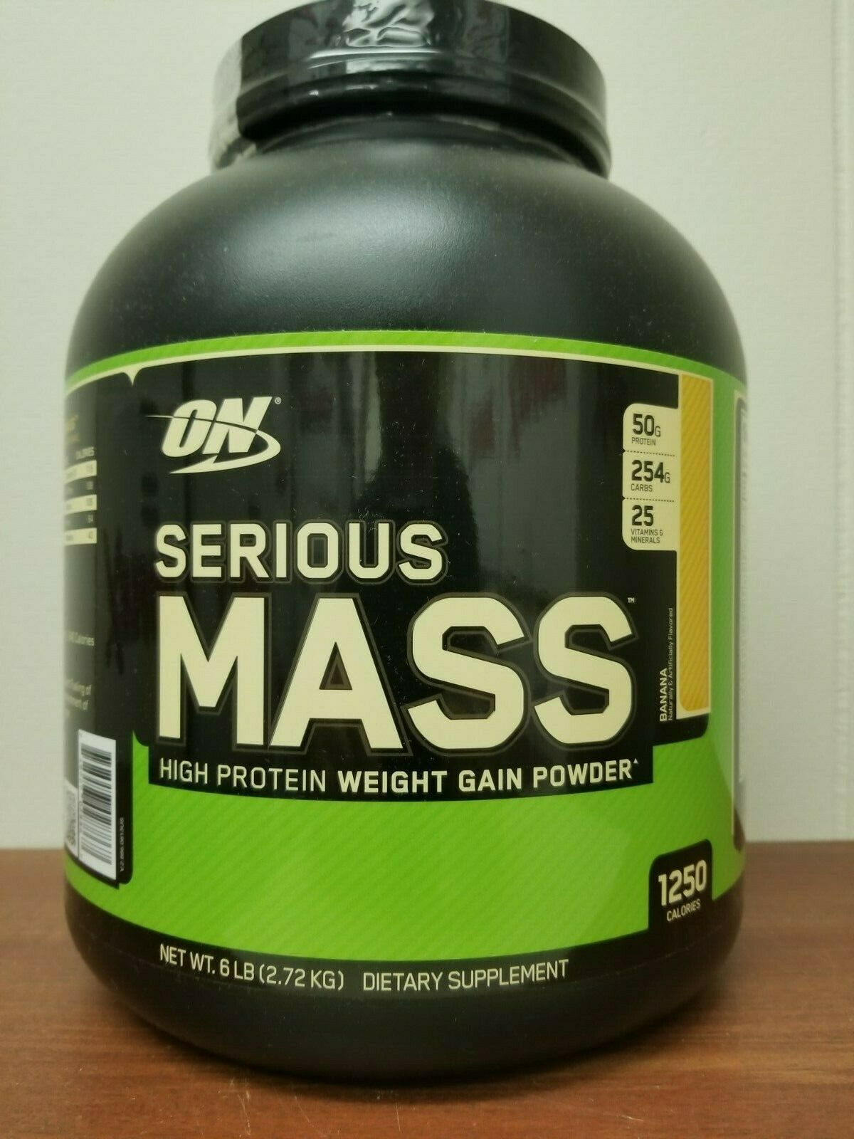 Optimum Nutrition Serious Mass 6Lb Weight Gain Powder ON Pro