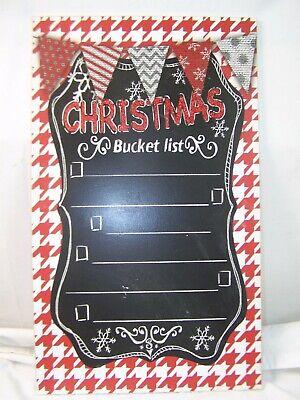 Weihnachten Eimer List Santa List Zeichen Dekor Holz 50.8cm X 30.5cm Kreidetafel