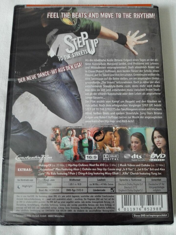 DVD Step Up To The Streets, NEU OVP, 98min,ab 6 Jahren in Berlin