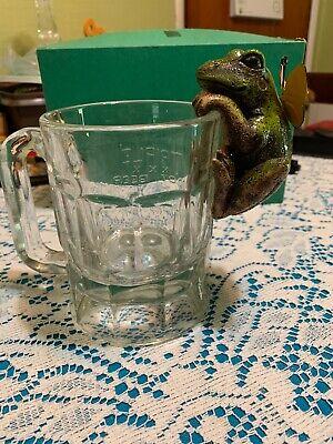 Green Frog W/butterfly Pot Hanger Decoration Resin 3