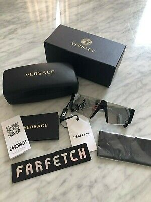 100% AUTHENTIC VERSACE MOD 4360 GB1/6G MEDUSA SUNGLASSES - BLACK/MIRROR £180