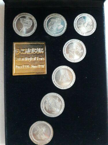 EXCALIBUR CASINO 7 YEAR ANNIVERSARY Uncirculated $1 Slot Coins Tokens Las Vegas