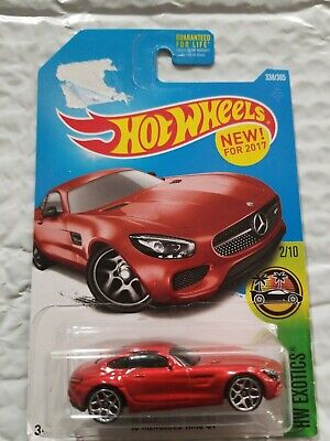 2017 HOT WHEELS 15 Mercedes AMG GT #338 Red - P Case